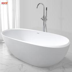 Baignoire en acrylique Surface solide pierre bord spécial baignoire autostable