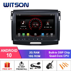 Witson Quad-Core Android 10 coche reproductor de DVD para Ford Ranger 2016 Enlace Espejo para Android Mobile+iPhone