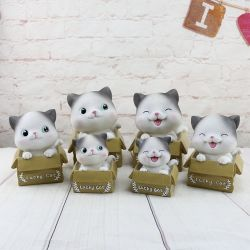 Пластмассовый Smile Cat Монета имеет ступенчатую конструкцию банк деньги окне Custom принять