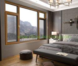 Aluminium houtbekleding ramen en deuren Eco-vriendelijke profielen schuiven Omkomen