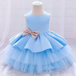 2021 새로 도착 아기 옷 소녀 의복 볼 가운 프린세스 프록 레이스 스위트 드레스