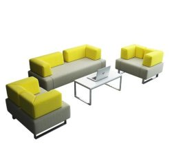 Современный кожаный диван конструкции из нержавеющей стали со штативом синтетическая кожа Office диван