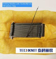 Agujas de tejer para 3G/5G/7G/9g/12g/14g/16g tricotosa rectilínea mano