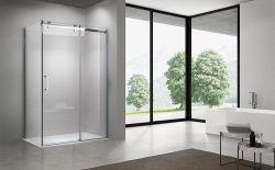 L'IGE Simple salle de bains avec douche en verre trempé clair Cabinet (WM-C-012)