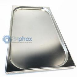 Aço inoxidável Gastronorm Buphex Recipiente (1/1 GN Pan 20mm de profundidade) tamanho 530x325mm