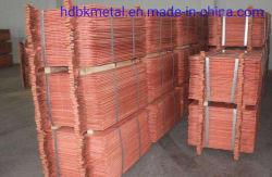 Venta al por mayor directa de fábrica de mejor calidad de cátodos de cobre de alta pureza con un 99% con Certificación SGS