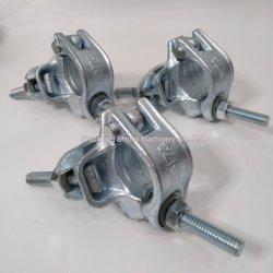 BS1139/En74-1b Andamios Andamios Andamios encofrados herrajes forjados en ángulo recto doble Fix Funda giratoria de acero galvanizado pulsa acoplador estampadas