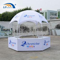 Com 5 PCS quadros brancos Quiosque do estande tenda a impressão de logotipo tenda Dome para o evento