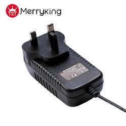 محول تيار متردد 15 فولت 2A CE BS قابس UK 3 طرف توصيل DC