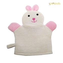 Plüsch-Tierkarikatur-Häschen-Kaninchen-Baby-Bad-Handschuh-weicher Baby-Wäsche-Handschuh