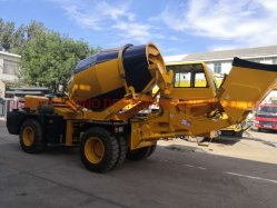 3.5m3 Articulated Chassis Mini Small Mobile Self Loading Concrete Cement Mixer Construction Mixing Machineの機械装置Truck