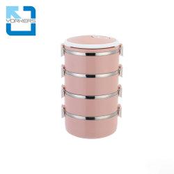 4 couches isolées en acier inoxydable Bento cycle thermique Boîte à lunch