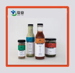 Bon marché personnalisé imprimé des étiquettes adhésives autocollant pour flacon en verre