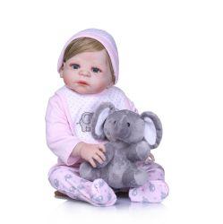 """NPK 22 """" Form-Mädchen-Puppe-kann wieder geboren volles Karosserien-Silikon-Vinyl Wasserbad-Puppe-Spielwaren Bebe Geschenk wieder geboren Realista wieder geboren Bebe kommen"""