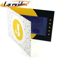 Het Ontwerp van de manier LCD van 10 Duim Druk van de Kaart van de Groet van het Geheugen van de Steekproef van de Brochure van het Scherm HD de Video2GB Digitale voor Onroerende goederen Huwelijk