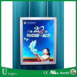 Потолочный светодиодный индикатор подвешивания серебристая алюминиевая рама рекламы стопорное раме с помощью простой установки