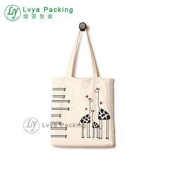 بالجملة عادة يطبع حمل نوع خيش قطن حقيبة لأنّ تسوق