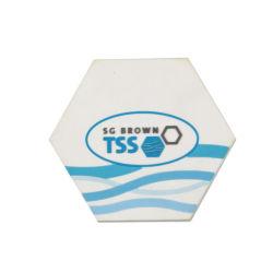 Оптовая торговля поощрения Логотип ПВХ чашку чая Coaster