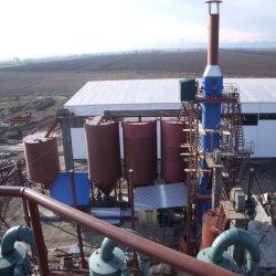 Erdgas-Gips-Pflaster-Puder, das Pflanze bildet