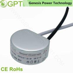 10W 15W 20W 12V 24 В классическом раунда Водонепроницаемый светодиодный драйвер питания постоянного тока ИИП, один выход для использования вне помещений IP67 трансформатор AC адаптер преобразователя постоянного тока IP68 СМПС