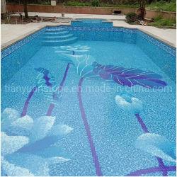 サイズのプールのガラスモザイク・タイルパターンデザイン芸術の装飾をカスタマイズしなさい
