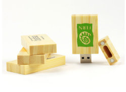 로고 프린팅 마이크로 스토리지 우드 USB 플래시 드라이브, 자동 감김