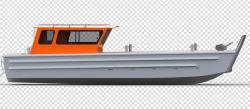 De aluminio de 11m mar abierto de 8 toneladas de carga de barcazas de desembarco Naval