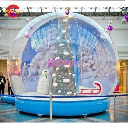3m надувные снег земного шара фото купол, Рождество снега всему миру купол надувные палатка, надувные прав снег земного шара шаров