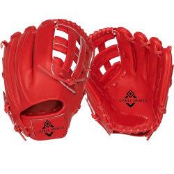 12,5 pulgadas de Kip Professional rojo de cuero guantes de béisbol de alta calidad personalizado