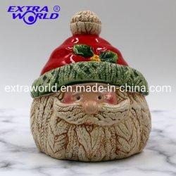 Banheira de venda de artesanato de Natal decoração criativa Recipiente Cookie Alimentar Cerâmica Santa misturador
