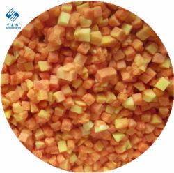 Sinocharm Brc-aは10mm*10mm IQFのパパイヤのダイスによってフリーズされたパパイヤを承認した