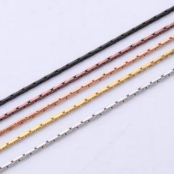 Catena di Boston del quadrato della collana dell'acciaio inossidabile per il disegno in rilievo dei monili