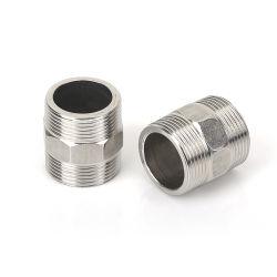 Nippel-Lieferanten-Edelstahl verlegte Hex Zylinder-Nippel, welche die materielle Rohr-Extension befestigt gleichen Nippel plombieren