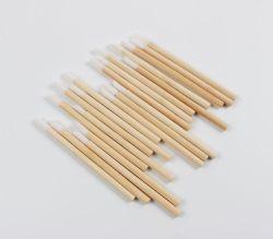 Asa de bambú desechables, Lip Gloss aplicador Pincel de labios