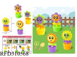 La novità DIY ostruisce i regali educativi dei capretti dei giocattoli dei bambini del giocattolo dei fiori