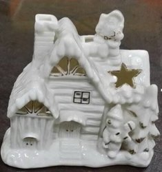 Dekoratives Ceramic Christmas House mit Light