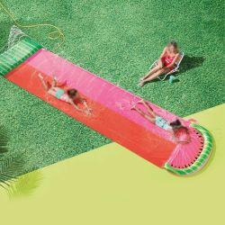Opblaasbare pvc Garden Toy Watermelon-sprinklerschuif