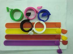 Silicone barato Bracelete Slap dispositivo USB