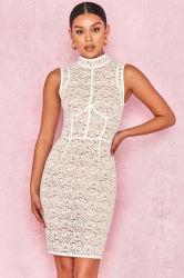 Commerce de gros Mesdames robe blanche robe fashion robe dentelle quotidiennement parti et de la célébration de l'usure