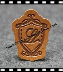 OEM 로고는 돋을새김했다 합성 가죽 청바지 레이블 (JL011)를