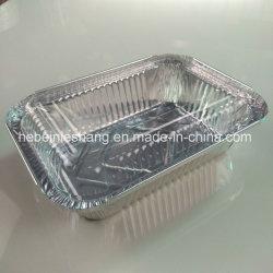 Conteneur de gâteau d'aluminium argenté