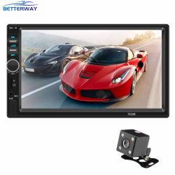 7 pouces de promotion Betterway 2 DIN Vidéo Radio voiture musique vidéo MP5 Kit de lecteur 7018B avec caméra de recul