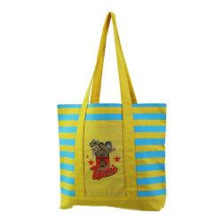 Sacchetto di Tote organico riciclato della tela di canapa del cotone di acquisto di modo delle borse delle signore delle donne del regalo della spalla di Bci Oekotex