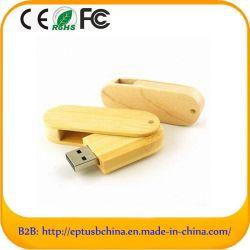 Disque Flash de bois pivotant USB2.0 Lecteur Flash USB en bois (ET601)