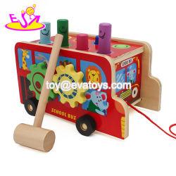Les nouvelles les plus chaudes en bois Multi jouer Toddler voiture Push pour l'éducation W05C088