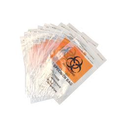 실험실 여분 포켓을%s 가진 100%년 LDPE Biohazard 견본 비닐 봉투