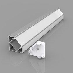 18 X 18 mm 90 grado TIRA DE LEDS de perfiles de aluminio, perfil de aluminio mate de la esquina de la Cinta de LED