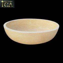 Novo Design Amarelo moderna banheira em mármore