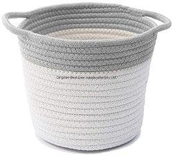 Corde de coton gris et blanc de l'Art de stockage de nettoyage