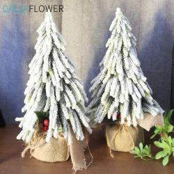 판매 Dy1-46를 위한 대중적인 작은 눈이 내리는 크리스마스 나무 인공적인 소나무 바늘 나무 플라스틱 기술